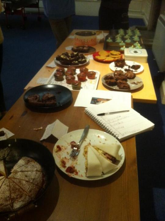 The state of the bake sale after half an hour... The GBBO Final hadn't even started by this point.